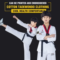 MOOTO IIIF uniform High quality child adult WTF taekwondo karate dobok cotton breathable fitness sport clothes suit black V-neck