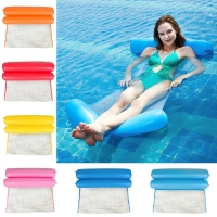 Summer Water Hammock Foldable Inflatable Air Mattress Swimming Pool Beach Lounger Floating Sleeping Cushion Bed Chair