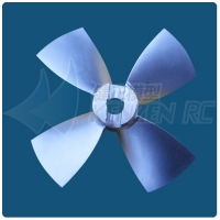 Dia 80mm Pitch 0.8 0.9 1.0 1.1 1.2 Ka Propeller 4 blades CNC Aluminum Used for Kort Nozzle Ducted Propeller Underwater Thruster
