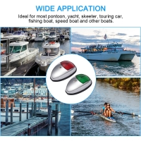 2Pcs Boat Lights Low Power Consumption Simple Operation LED Navigation Light Lamp Signal Lights Fishing Boat Navigation Lamps