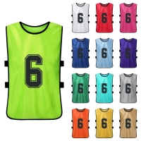 6PCS Adults Quick Drying Basketball Football Jerseys Soccer Vest Pinnies Practice Team Training Sports Vest Team Training Bibs