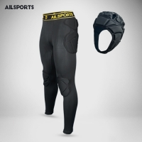 Men American Football Pants Soccer Training Pant Goalkeeper Sports Kits EVA Sponge Goal Keeper Goalie Shorts knee pad Protection