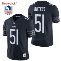 Throwback Jersey Men's Chicago American Football Jerseys Butkus Jersey Size S-XXXL Colour Navy Blue Free Shipping Cheap