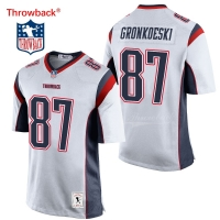 Throwback Jersey Men's New England American Football Jersey Gronkowski Jerseys White Free Shipping Wholesale Cheap