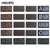 Black Green Sports souvenirs Military Patch Blood Type Group 3D Embroidery Patches A+ B+ AB+ O+ Positive Tactical Badges brown