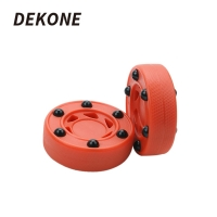Roller Hockey Durable ABS High-density Good Quality Practice Puck Perfectly Balance For Ice Inline Street Roller Hockey Training