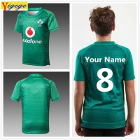 Yigege 2019 Ireland IRFU kids jersey home shirt Irish Youth rugby Jerseys League rugby shirts custom your name and number AAA