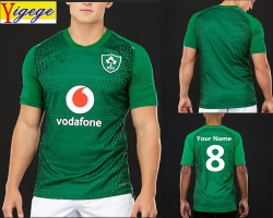 Yigege Custom names and numbers Ireland IRFU jersey 2019 home shirt Irish rugby Jerseys League rugby shirt s-3xl AAA