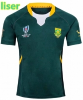 liser for 2019 Mens Replica South Africa RWC19 Home/Away Replica Shirt Rugby Sport shirt Size:S-3XL Free Fast Shipping