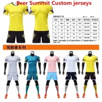 Ever Summit Custom Soccer Jersey 2019 2020 Football Shirts Mbappe Training Sets Blank Version Tracksuits Adult Ronaldo de Futbol