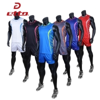 Etto Professional Volleyball Team Suits For Men Quick Dry Shorts & Sleeveless Jersey Volleyball Set Training Sportswear HXB025