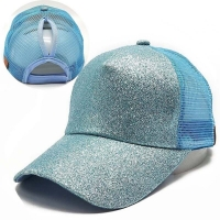 Ladies Flash Ponytail Tennis Cap Sports Cap Mesh Cap Adjustable Sports Running Riding Cap