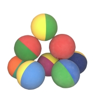 1 Piece 6cm Bi-color Racquetball Squash Low Speed Rubber Hollow Ball Training Competition High Elasticity Random Color