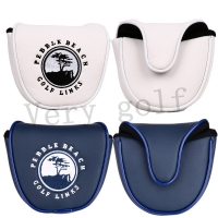 Genuine Golf Mallet Putter Head Cover with Magnetic Closure Synthetic Leather Golf Club Head Cover