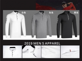 W Men's sportswear long-sleeved golf T-shirt 3colors golf apparel S-XXL choose leisure golf clothing free shipping
