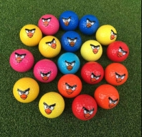 Hot sell Golf ball Emoji Faces Novelty Fun Golf Balls lovely face pattern golf ball Super cute bird image color golf gift balls,