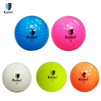 Caiton Crystal clear color golf balls Double distance game golf ball
