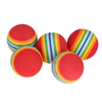 Activing New Arrival 5Pcs/Pack Rainbow Stripe Foam Sponge Golf Balls Swing Practice Training Aids Outdoor Drop Shipping #30