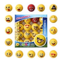 2019 New Champkey Deluxe Emoji Golf Balls Set of 16,Premium Dual-Layer Professional Practice Golf Balls.