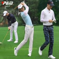 2019 PGM Golf Apparel Men Full Pants Suit Sportswear Spring Summer Men's Printing 86% Polyester and 14% Spandex Ball Pants Shirt
