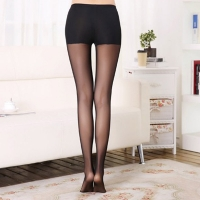 Bottoming Grenadine Pants Cotton Net Stocking Transparent Safety Trousers Elastic Step Pants Women Mesh Trousers Skin Socks