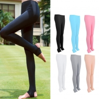 Golf Clothing Women's Sun Protection Pants Summer Thin Section Ice Silk Leggings Breathable Foot Socks Fashion Wear Resistant
