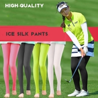 PGM Translucent Elastic Legging Stocking Women Sunscreen Panty-hose Golf  Outdoor Pants UV-proof Light Thin Smooth long leg Sock