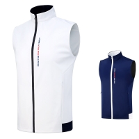 Men's Vest Golf Clothes Full-Zip Sleeveless Windproof Waterproof Material Coat Competition Uniform Spring Wasitcoat