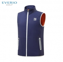 EVERO Autumn and winter men's Golf vest Zipper Armless Windproof and warm Golf Sportswear men fleece golf sleeveless jacket