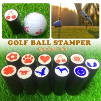 1Pcs Colorfast Quick-dry Golf Ball Stamp Stamper Long Lasting Golf Ball Marker Impression Seal Golf Club Gift Golfer Souvenir