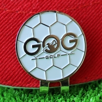 GOG Golf ball marker with hat clip Free Shipping Alloy Professional Training Aids Accessories