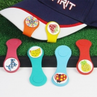 Perfeclan Golf Hat Clip Ball Marker Magnetic Hat Cap Clamps Player Removable Ball Mark Easy to Carry