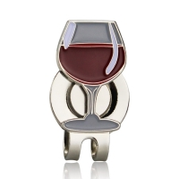 1pcs New Golf Ball Marker Wine Glass  Red Wine cup With Magnetic Hat Clip