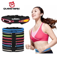 Queshark Ultralight Sports Running Bags marsupio Jogging Waist Pouch Walking Climbing Camping Anti-theft Belt Phone Packs