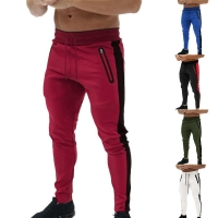 Men Running Pants Fitness Gym  High Elastic Sport Trouser Gym Casual Workout Stripe Basketball Sportwear Male Sweatpants