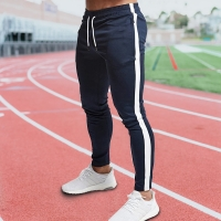 Red Jogging Pants Men Striped Sport Sweatpants Running Pants GYM Pants Men Cotton Trackpants Fitness Jogger Bodybuilding Trouser