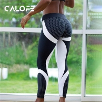 CALOFE Women Running Pants 2020 Autumn Sweatpants Patchwork Slim Gym Fitness Elastic Jogging Training Leggings Women Sport Pants