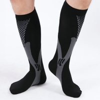 1 Pair Sports Compression Socks For Running Hiking Basketball Soccer Elastic Footwear Varicose Veins Muscle Support Stocking