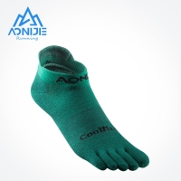 AONIJIE E4110 One Pair Lightweight Low Cut Athletic Toe Socks Quarter Socks For Five Toed Barefoot Running Shoes Marathon Race