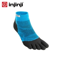 Injinji Five-finger Socks Low-thin Running Blister prevention Stockings Coolmax Men Quick-drying Solid Color Cycling Sports men