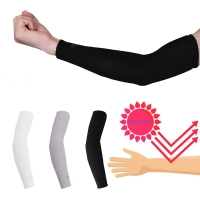 2Pcs Arm Sleeve Warmers Safety Sleeve Sun UV Protection Sleeves Arm Cover Cooling Warmer Running Golf Cycling Long Arm Sleeve