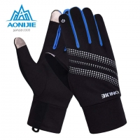 AONIJIE Men Women Outdoor Sports Gloves Warm Windproof Cycling Skiing Bicycle Hiking Climbing Running Ski Full Finger Gloves