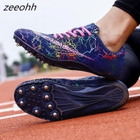zeeohh Hot Sell Track & Field Shoes For Men Women Breathable Spikes Running Shoes Greeen Orange Track Shoes Spikes Sneakers Men