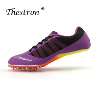 Thestron Couples Track and Field Shoes Athletics Woman Spring Summer Lightweight Male Running Nails Sneakers Green Spikes Shoe