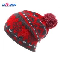 Unisex warm winter knitted knitting Ski hats for men and women skullies and beanies Snowboard cap
