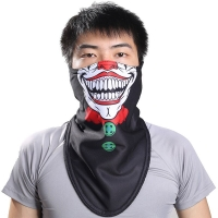 ALRCLAVA Outdoor Ski Snowboard Motorcycle Winter Warmers Sport Full Face Mask Pirates 3D Printed Triangular Scarf Skiing Mask