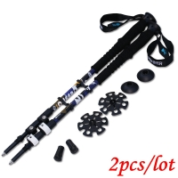 Trek Pole Nordic Walking Skiing Poles Telescopic Alpenstock Aluminum Alloy Hiking Shooting Walking Sticks Crutch Senderismo