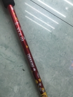 Outdoor Outer Lock Three Cane Aluminium Alloy Adjustable Extendable Straight Handle Alpenstock-Sample Custom Logo