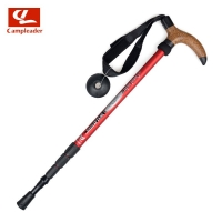 Ultra-Light 7075 Alpenstock 4-Section Crutches Walking Stick Sleeves Handle Four Sections Alpenstock Cane
