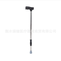 Stainless Steel Crutches Old Cane Walking Stick Retractable Walking Aid Stainless Steel Mountaineering Cane Walking Stick Wholes